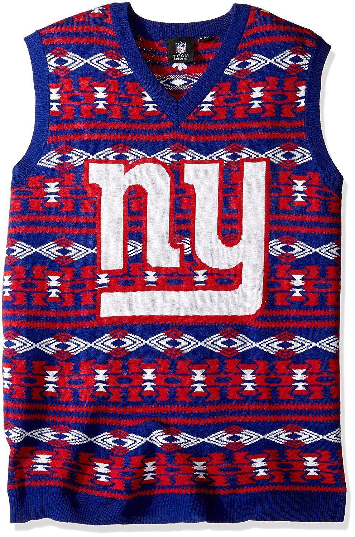 c62665618  GiantsPride NFL New York Giants Ugly Christmas Sweater Vest FREE SHIPPING!