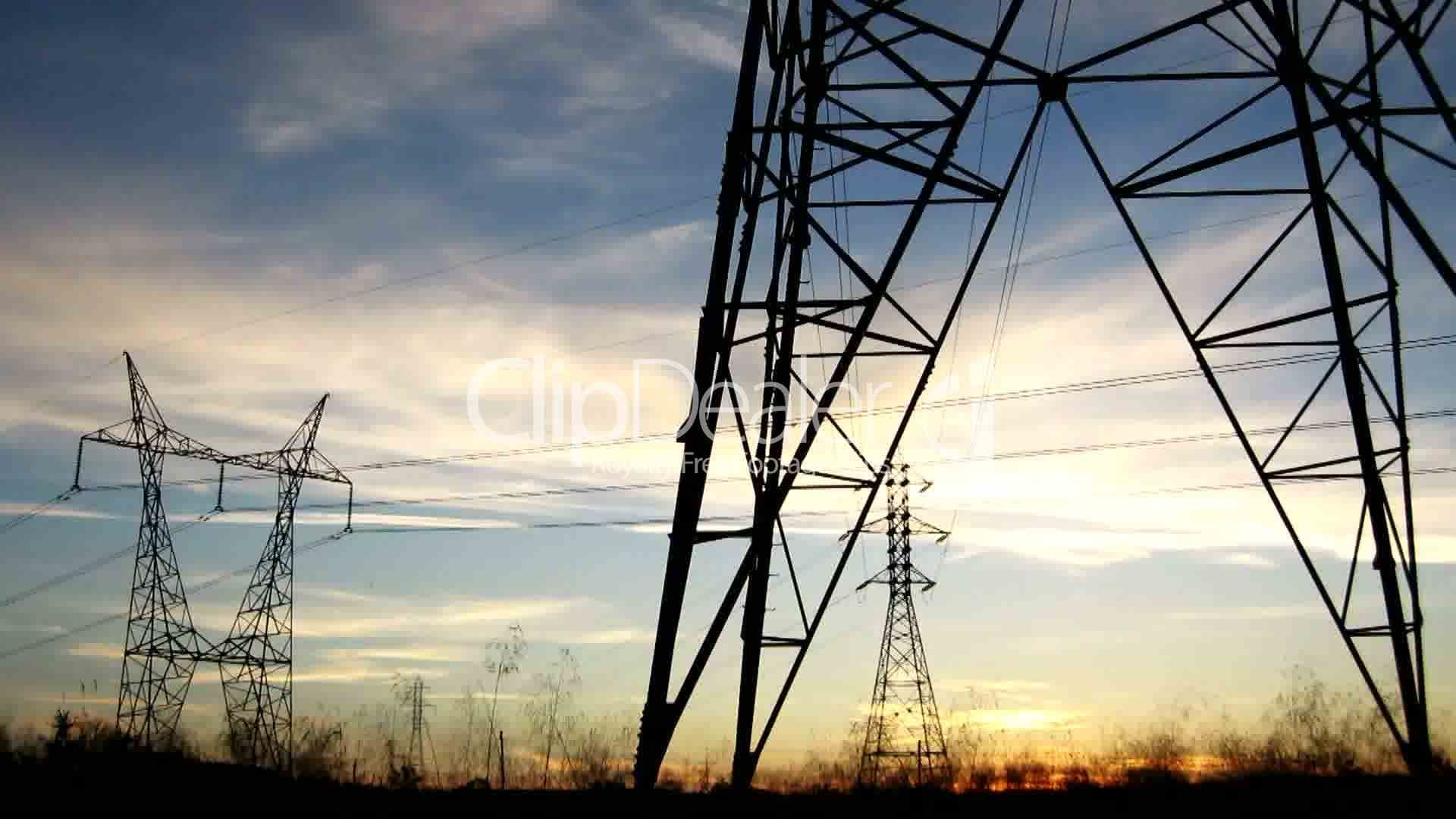 Clips. Electricity pylons ...