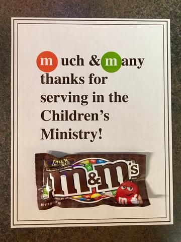 7 Candy Bar Thank You Notes for Volunteers | Volunteer ...
