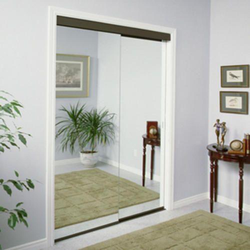 Slimfold 72 X 80 Frameless Steel Sliding Mirror Door At Menards Closet Doors French Closet Doors Mirror Closet Doors