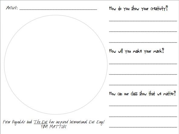 Image Result For Dot Day Coloring Page International Dot Day