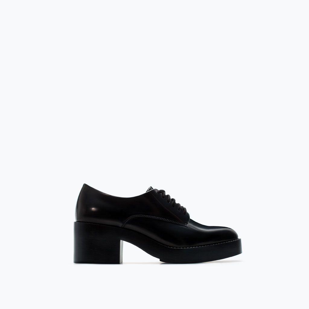 Buty W Stylu Derby Na Platformie Buty Trf Zara Polska Shoes Zara Women Shoes