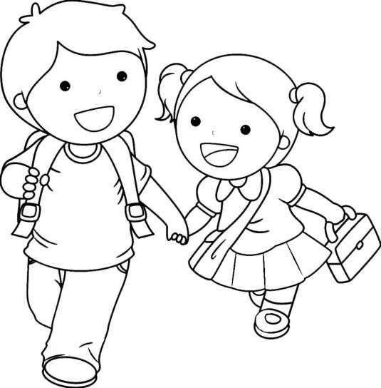 imagenes niños para colorear para imprimir | efemerides y murales ...