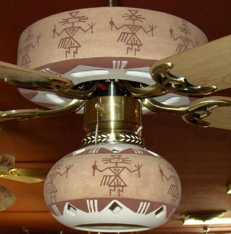 Warriors In Sand Color Ceiling Fan From Strictly Southwestern