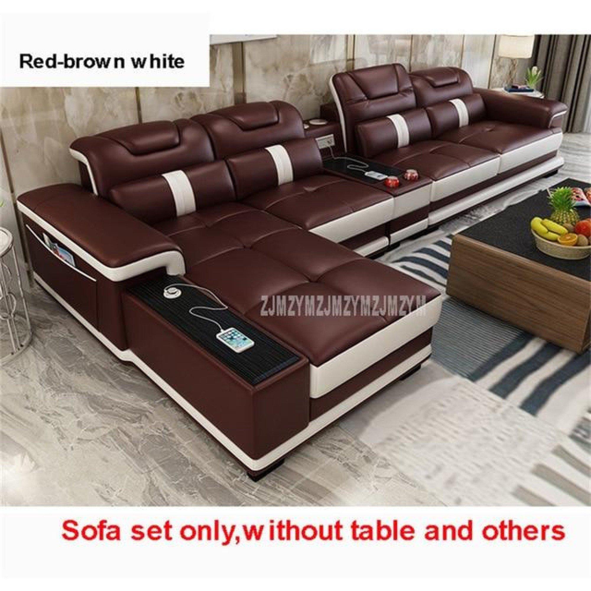 Elegant Electrical 4 Seater Leather Sofa Set Leather Sofa Living Room Living Room Leather Living Room Sofa Set