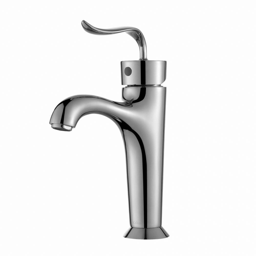 KRAUS Coda Single Hole Single-Handle Basin Bathroom Faucet in Chrome ...