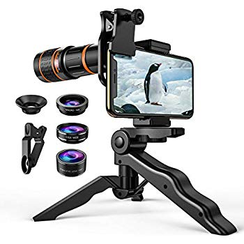 2 in 1 Clip-On Cell Phone Camera Lens for iPhone 8 // X // 7 Plus // 6 Lens Attachment for Samsung AMIR for iPhone Lens Kit Upgraded Smartphones 0.45X Wide Angle Lens 15X Macro Lens for iPhone