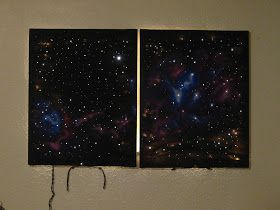 DIY: Light Up Galaxy Painting