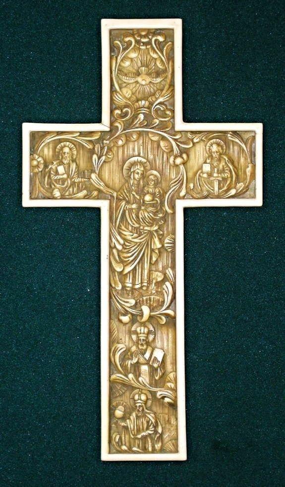Byzantine Cross Madonna Holy Spirit Trinity Crucifix Church Italy