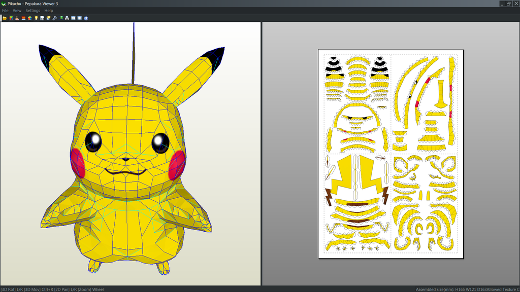 Pikachu papercraft unfod by antyyy | Pokemon | Pinterest | Fiestas ...