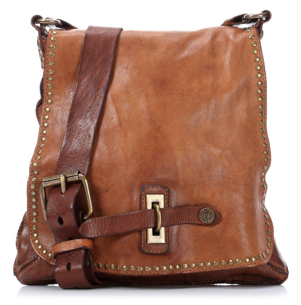 24d7399be10 Campomaggi Lavata Shoulder Bag Leather cognac 29 cm - C1226VL-1702 -  Designer Bags Shop - wardow.com