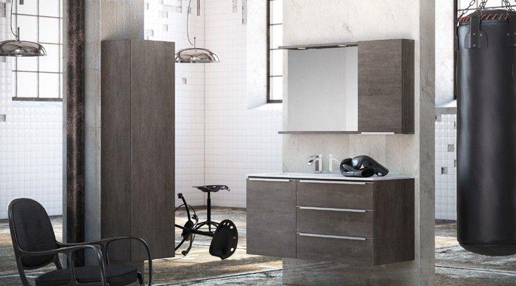 meuble de salle de bains style atelier loft