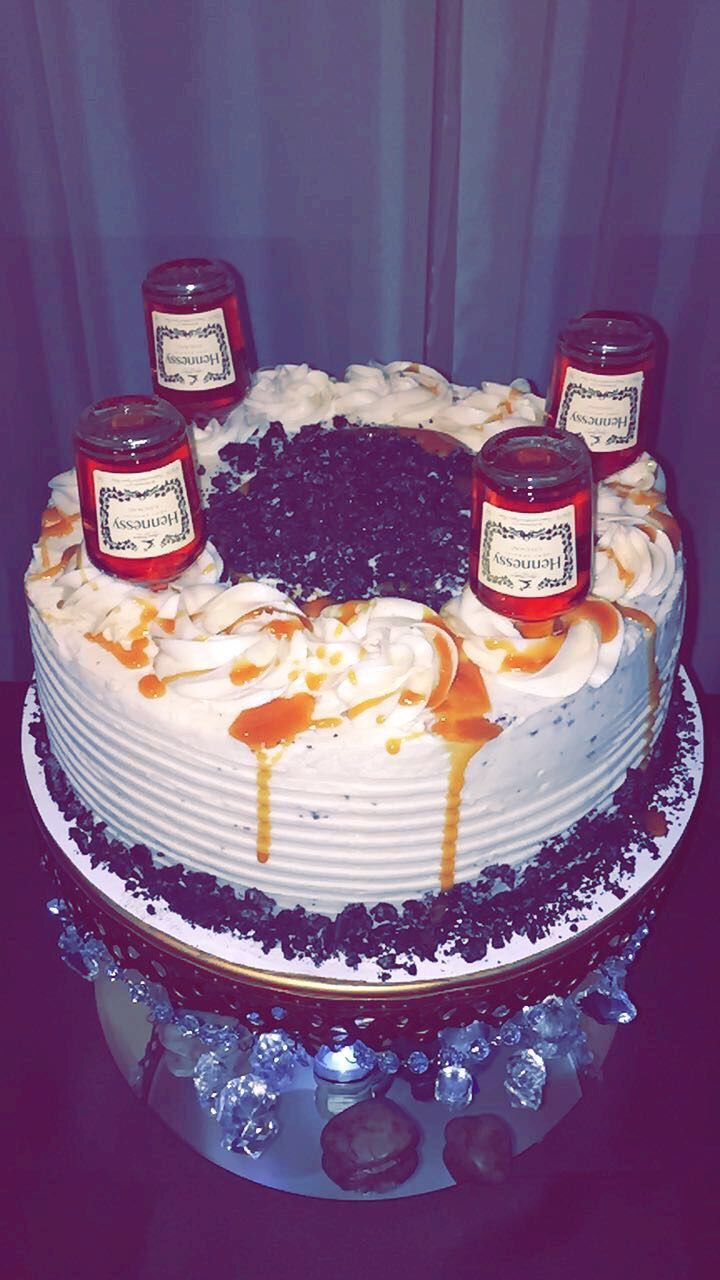 Hennessy cake Chocolate cake Caramel drizzle Hennessy infused