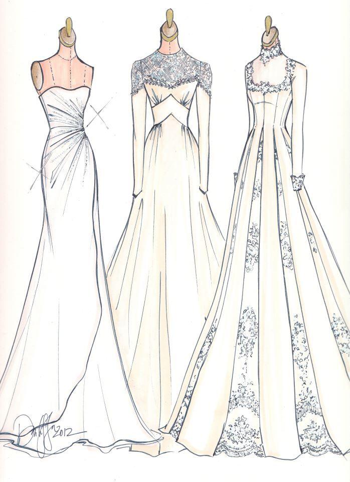 Image courtesy of illustrative moments sketches brides Wedding dress illustration
