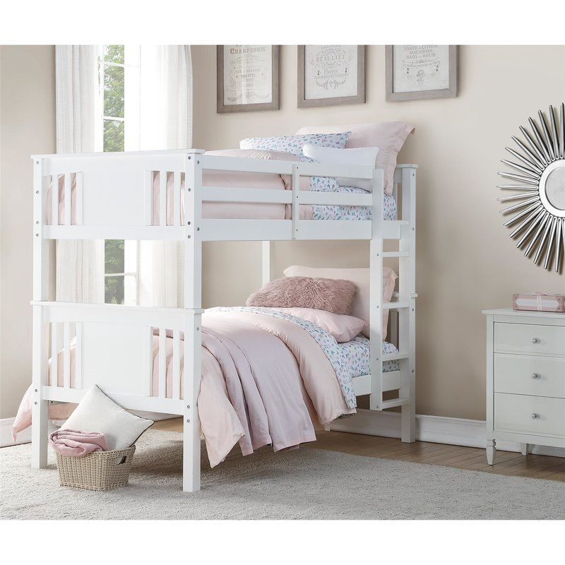 Alimi Twin Over Twin Standard Bunk Bed By Viv Rae Twin Bunk Beds White Bunk Beds Dorel Living