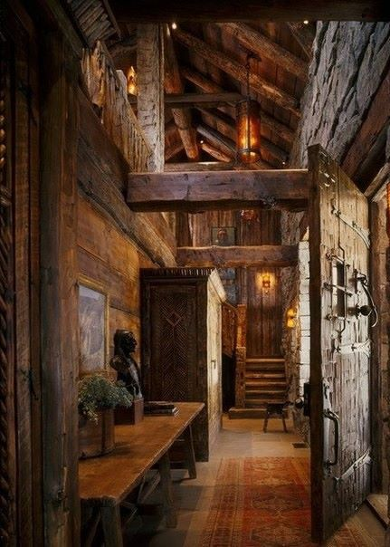 The Entire Castle Interior Was Made Of Wood Stone Outside But