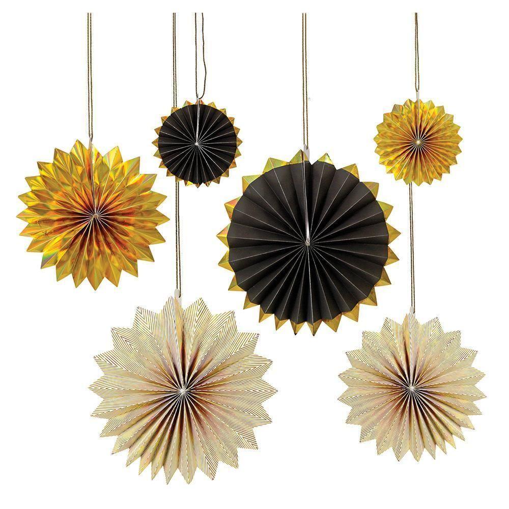 Gold And Black Pinwheels