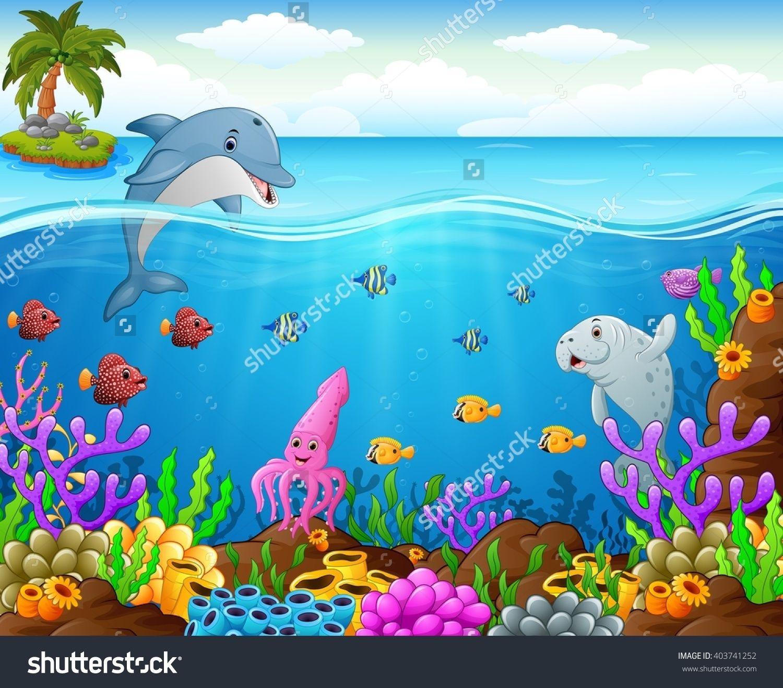 Cartoon fish under the sea stock vector illustration for Fish under the sea