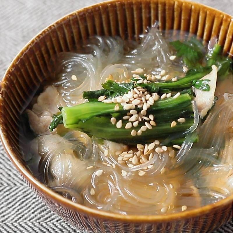 スープ 作り方 春雨 ホットクック・レシピ【野菜たっぷりスープ春雨の作り方】味付けは塩だけ!