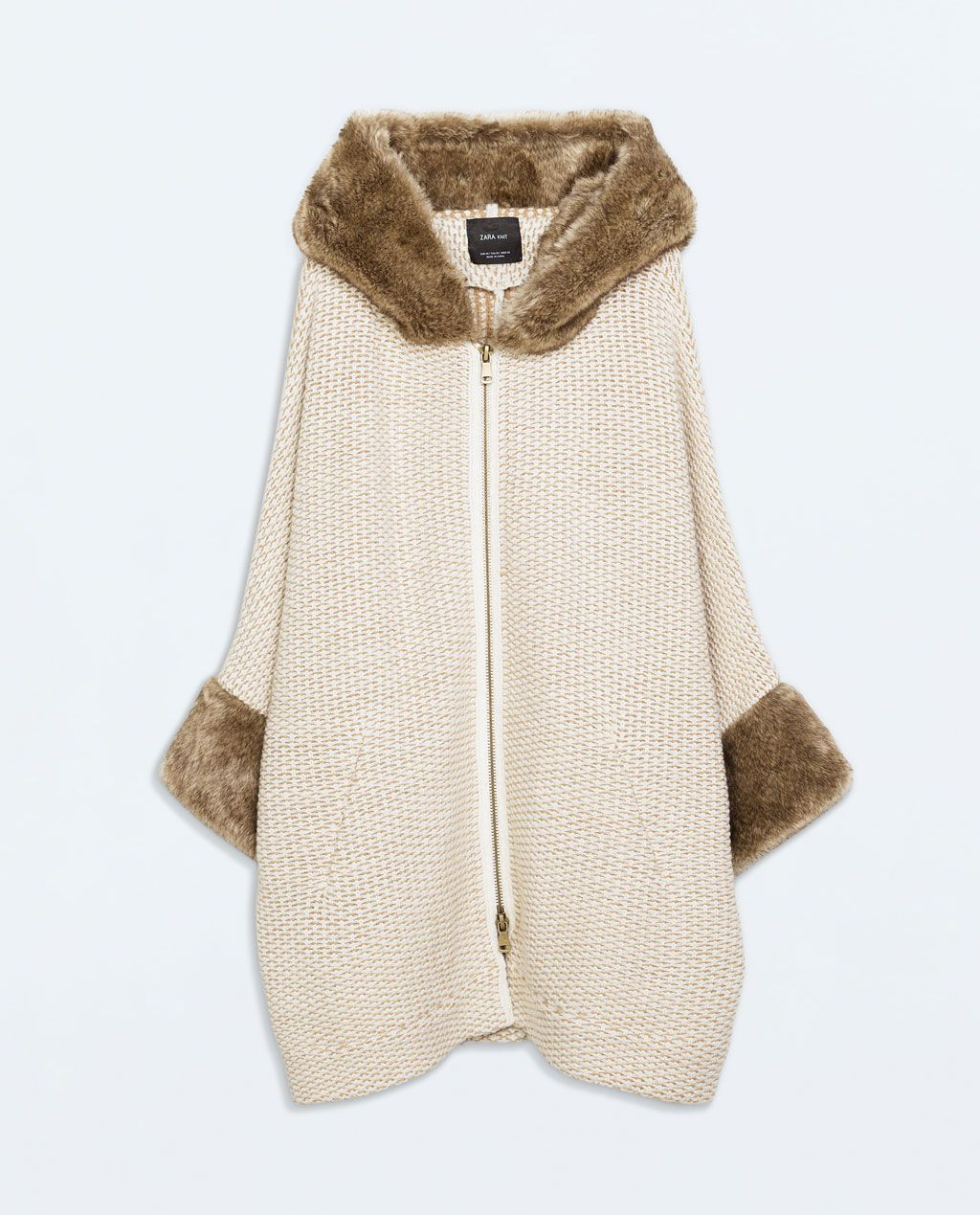 832426b8 Image 6 of FAUX FUR JACKET WITH HOOD from Zara | Style | Faux fur ...