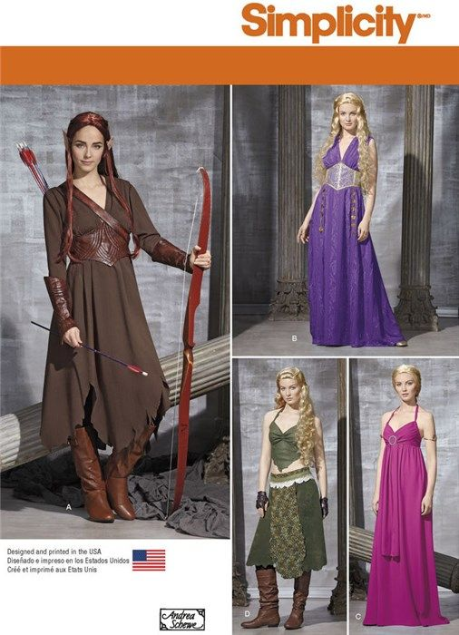 patron de costume khaleesi 39 s game of thrones simplicity 7856 d guisements costumes de f e. Black Bedroom Furniture Sets. Home Design Ideas