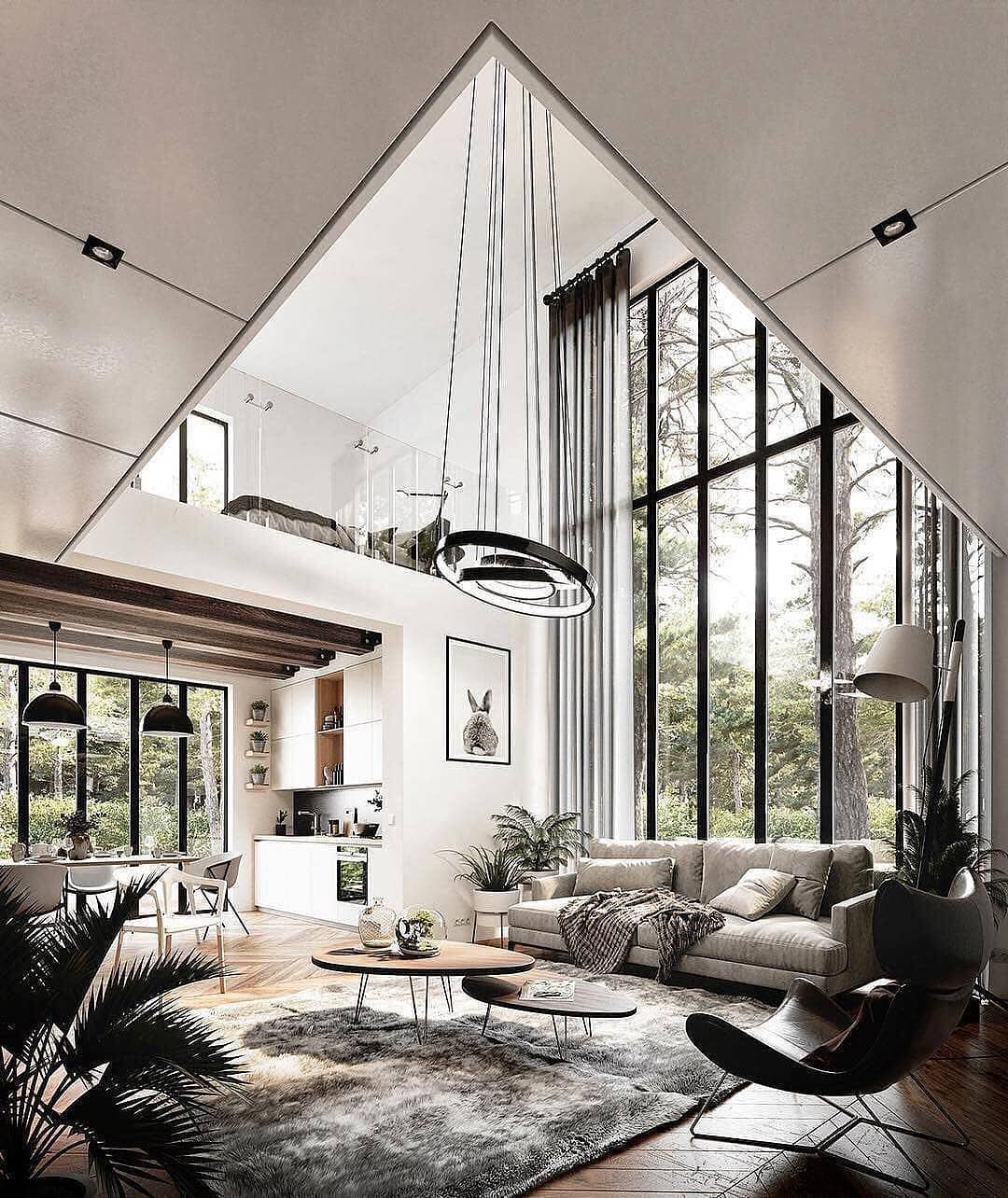Luxury Mansions Cars On Instagram Interior Goals Follow Sashii100 For More Amazi In 2020 Contemporary Decor Living Room Modern Houses Interior House Interior
