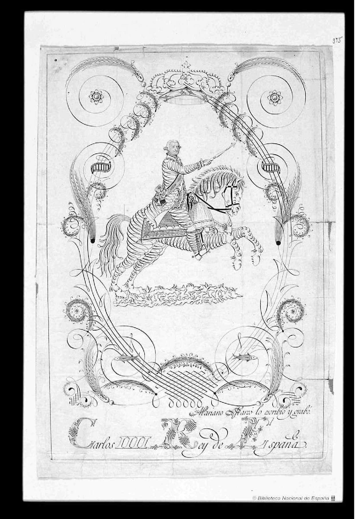 Retrato de Carlos IV]. Marco, Mariano (S.XVIII) — Grabado ...