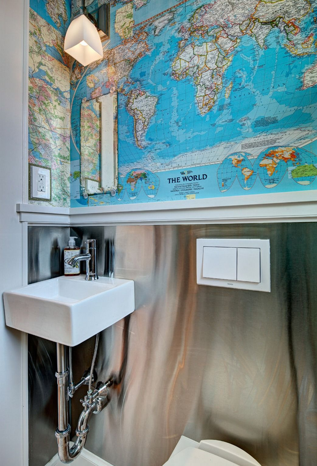 A Small Bathroom Does Not Mean You Are Stuck With Small Style We Love The Compact Space Saving D With Images Wall Mounted Bathroom Sinks Wall Mounted Sink Small Bathroom