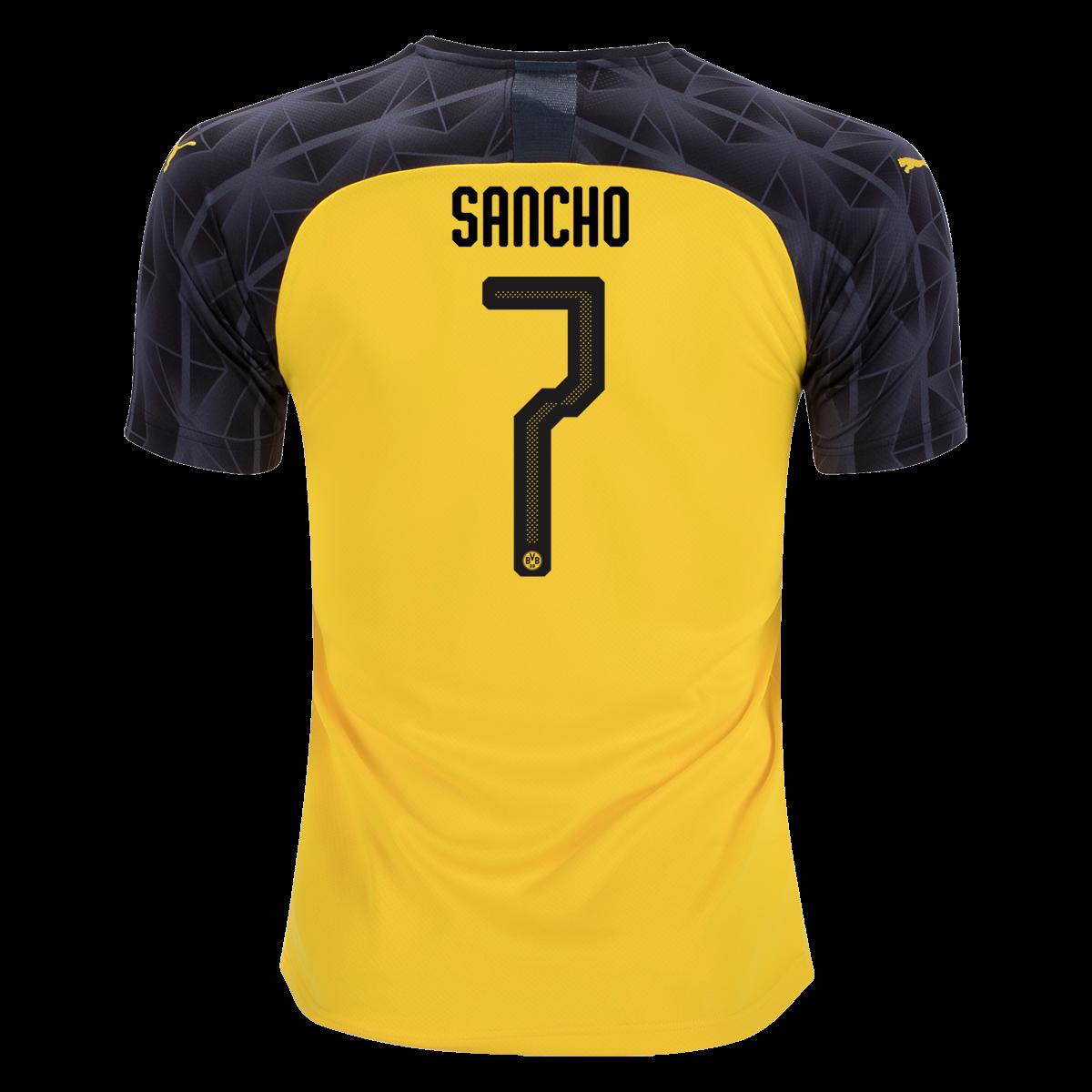 Puma Jadon Sancho Borussia Dortmund Ucl Jersey 19 20 2xl In 2020 With Images Borussia Dortmund Dortmund Sancho