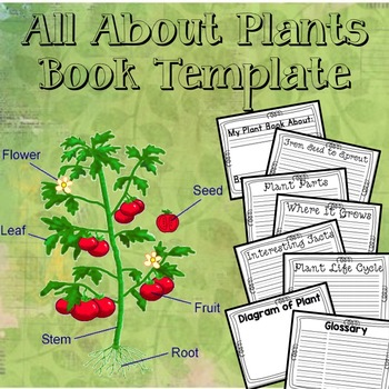 All About Plants Book Template Plant Book All About Plants Book Template