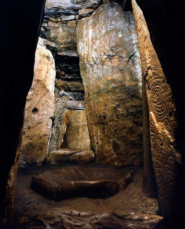 The main chamber of Dowth passage grave, Boyne Valley, Ireland