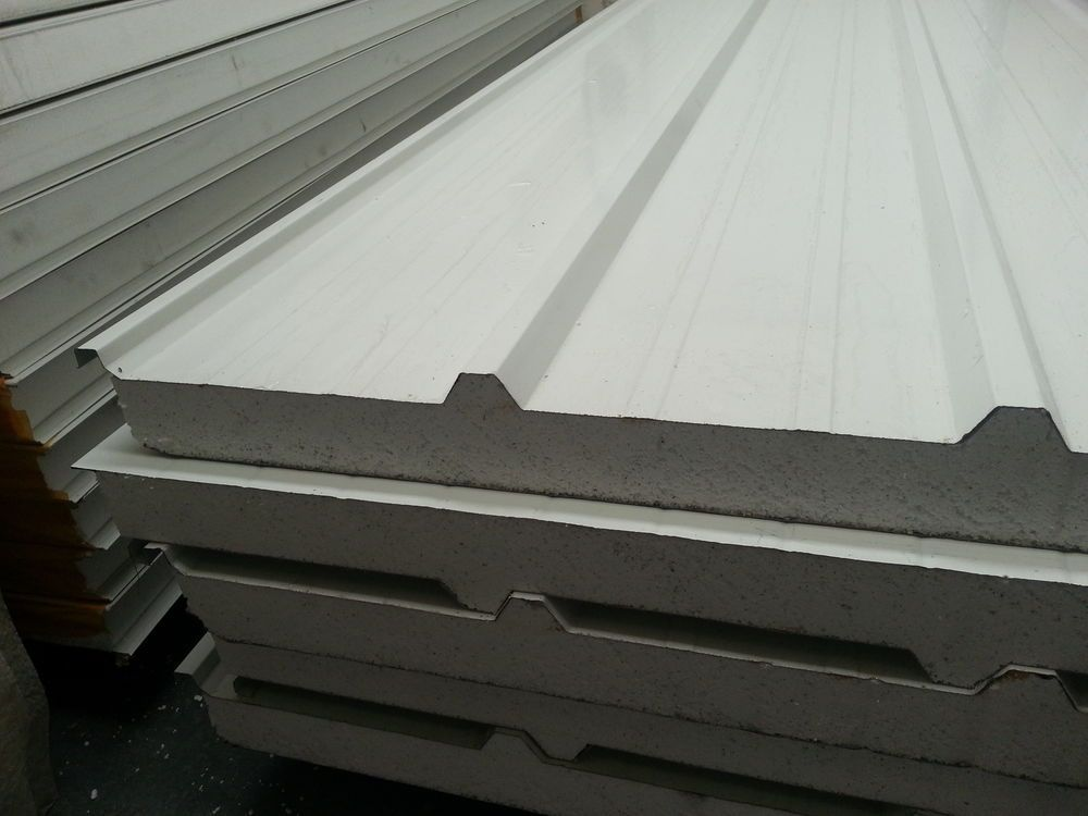 High Quality Sandwich Panels With Density 14kg X2f M3 Core Expanded Polystyrene Foam For Coolroom Internal Amp Exter Roof Panels Roofing Sheets Paneling