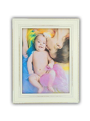 6x8 White Wood Picture Frame With Glass Front European Style