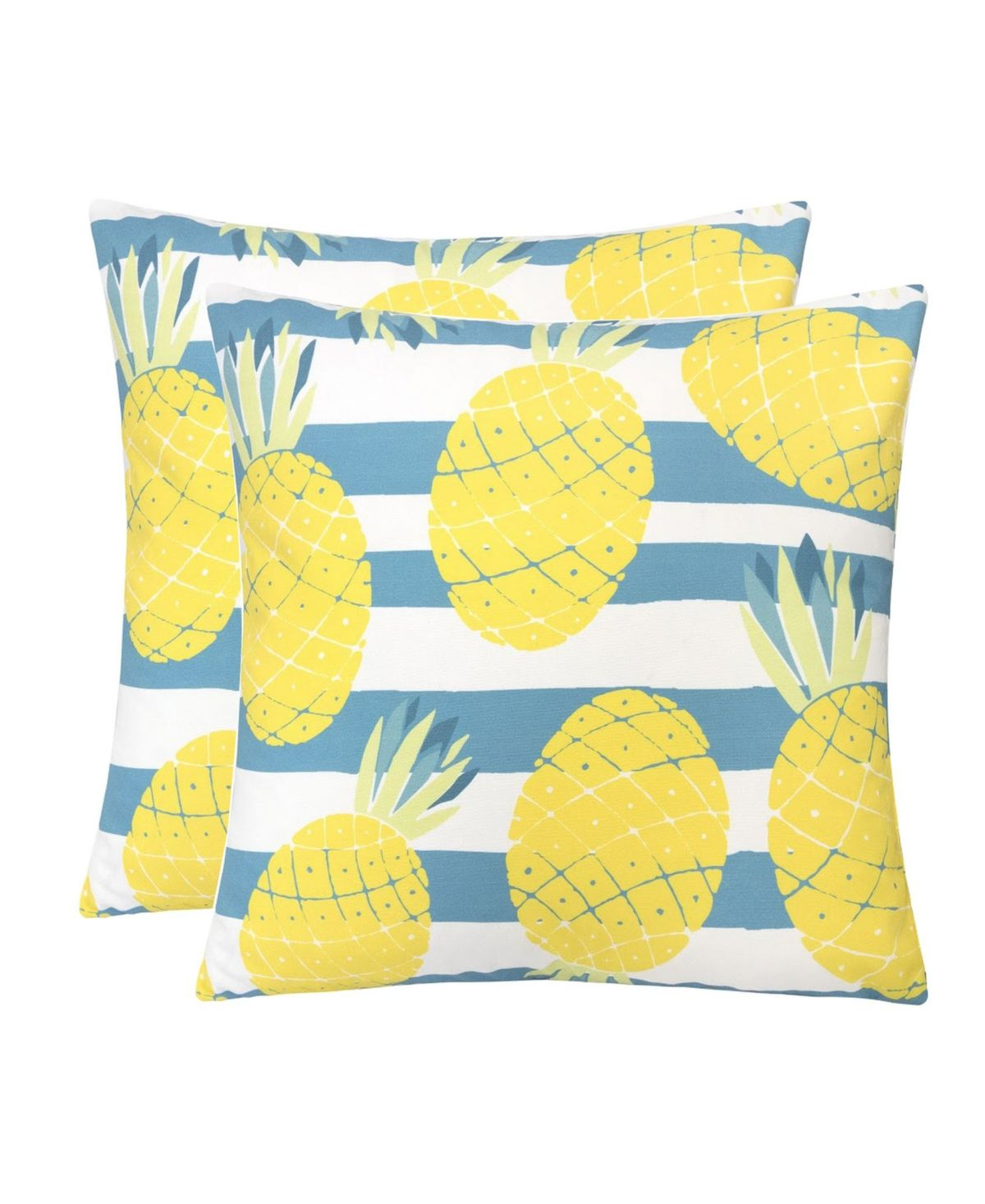 Homey Cozy Outdoor Pillow, Pineapple - Set of 2 - Yellow