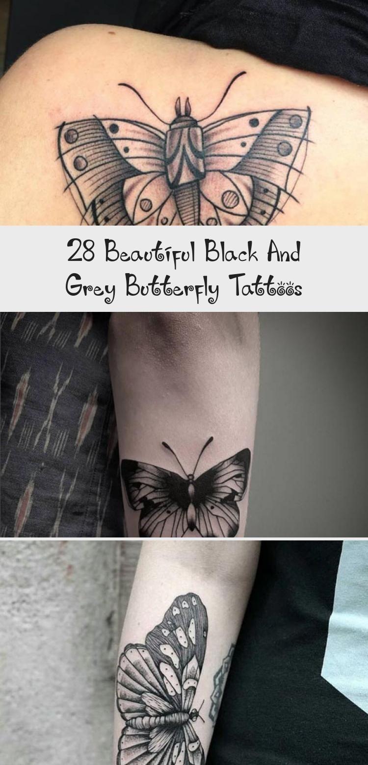 Photo of 28 beaux tatouages de papillon noir et gris – tatouage