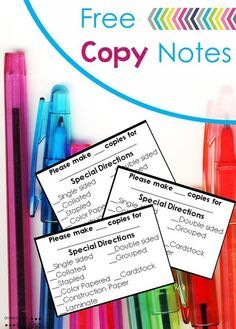 Do you have parent volunteers? Save time with these FREE copy notes.