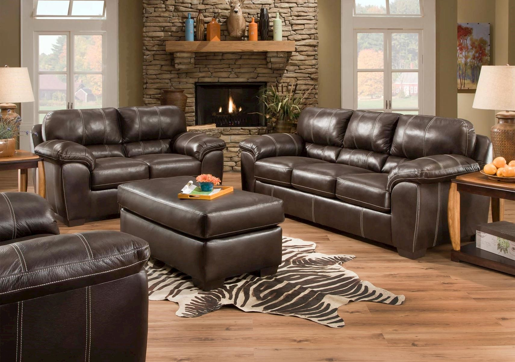 Lacks Black Jack 2 Pc Living Room Set Discount Living