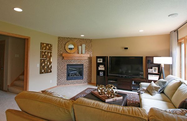 Marvelous 20 Appealing Corner Fireplace In The Living Room... Same Layout As Our  House.