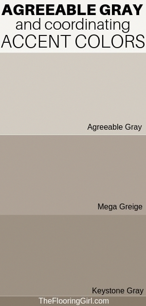 Agreeable Gray is the perfect neutral gray that goes with almost everything. Coordinating colors for accent walls: Mega Greige and keysone gray. Sherwin Williams. #agreeablegray #sherwinwilliams #gray #greige #paint #bedroompaintcolors #sherwinwilliamsagreeablegray