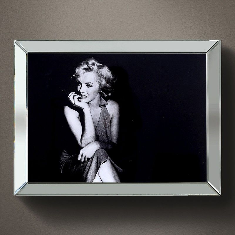 Efektowny Obraz W Lustrzanej Ramie 90x70cm Marilyn Monroe