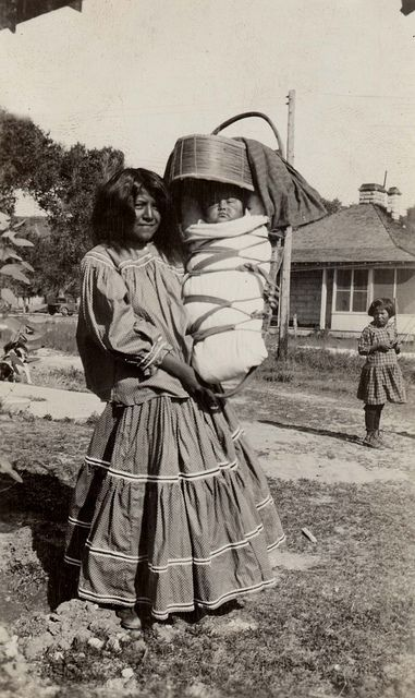 Photo of Apache mother with infant, 1931