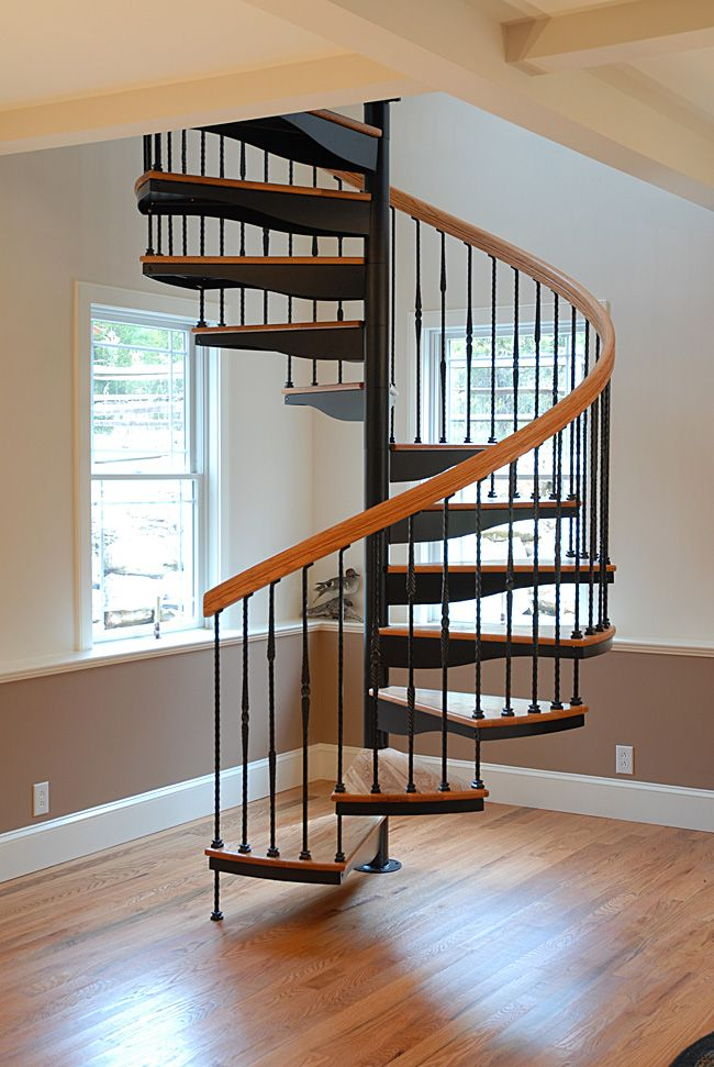 Spiral Staircase Tiny House Stairs Staircase Design Spiral   Wrought Iron Circular Staircase   Wooden   Living Room   Artistic   Rail   Modern