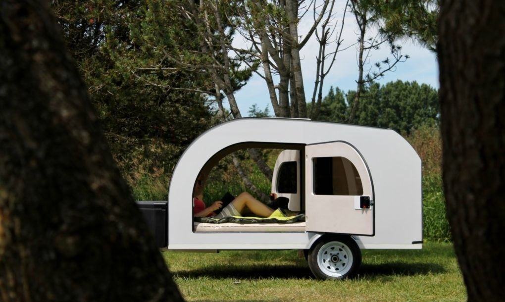 The Droplet is a lightfilled teardrop trailer inspired by