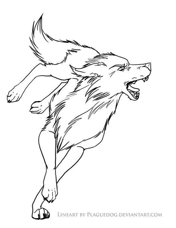 Bitey wolf lineart by Plaguedog | wolf lineart ~ line art ...