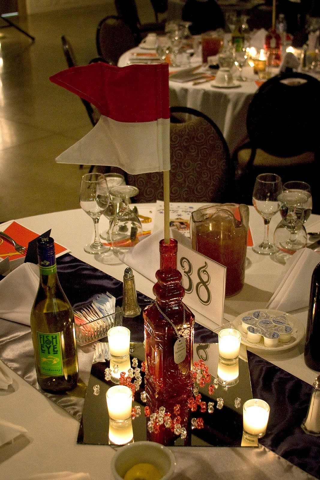 Centerpieces courtesy of the cullinan family 159th cab for Army theme party decoration ideas