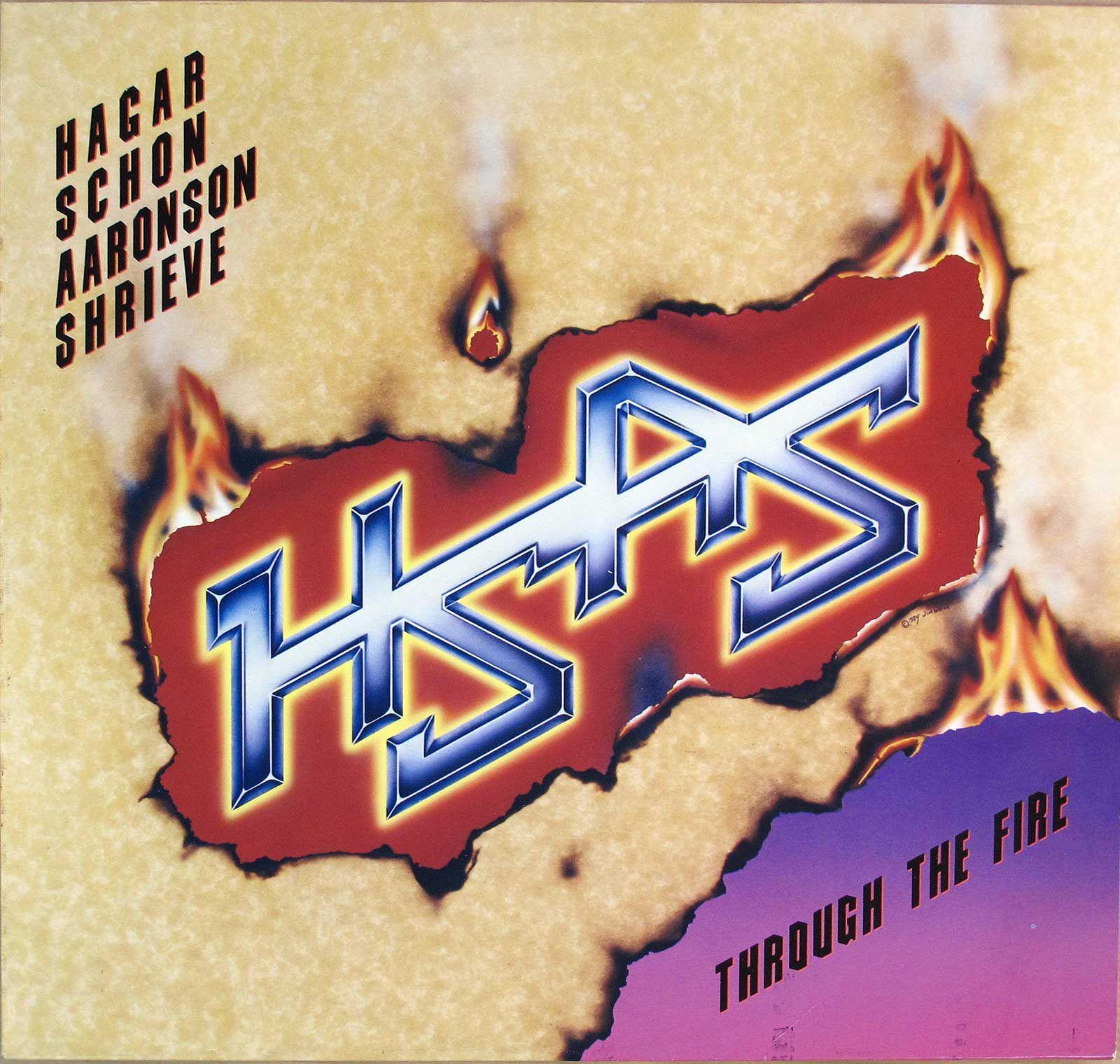 Hsas Band Hagar Schon Aaronson Shrieve Through The Fire American Hard Rock Heavy Metal Vinyl Album Information For Collectors Record Price Guide