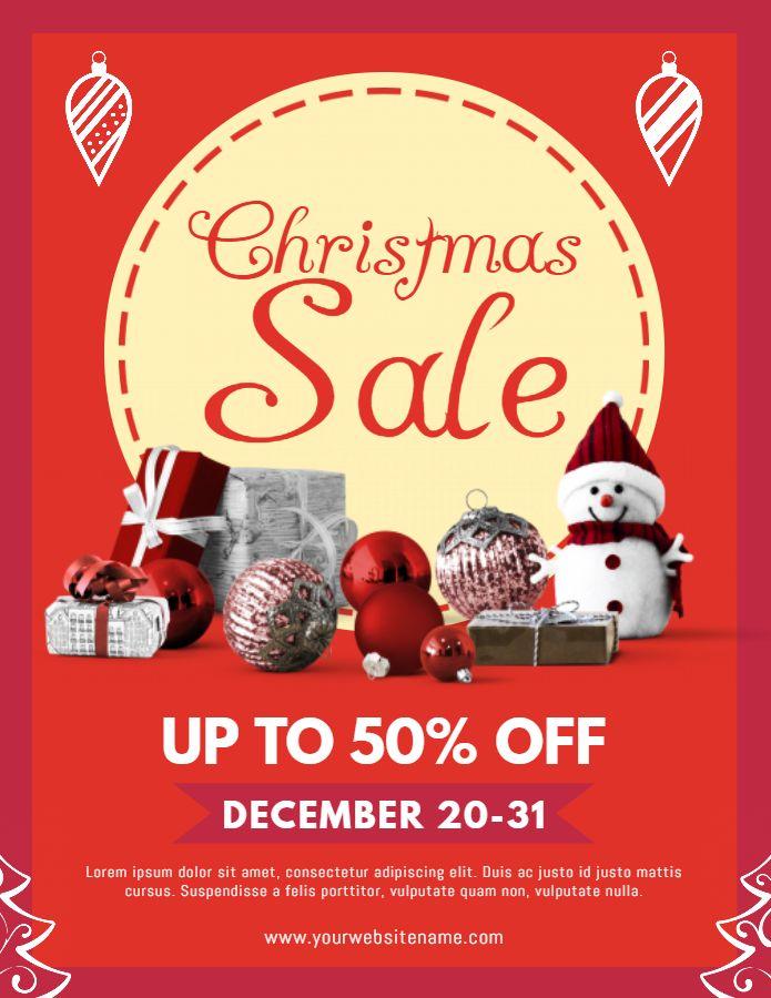 Christmas Flyer.Christmas Sale Flyer Design Template Christmas Retail