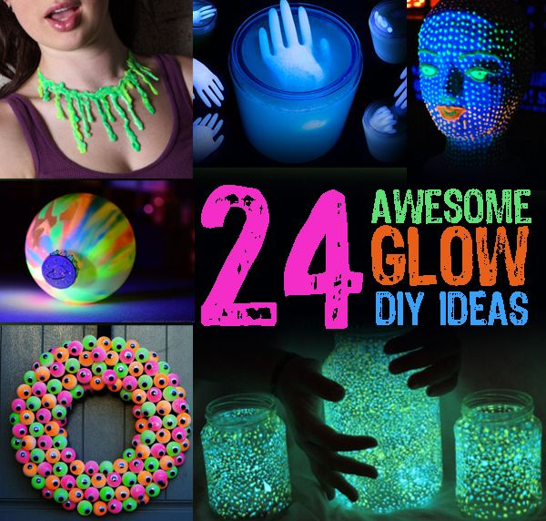 Glow In The Dark Decoration Ideas 24 awesome glow diy ideas | diy ideas and buzzfeed