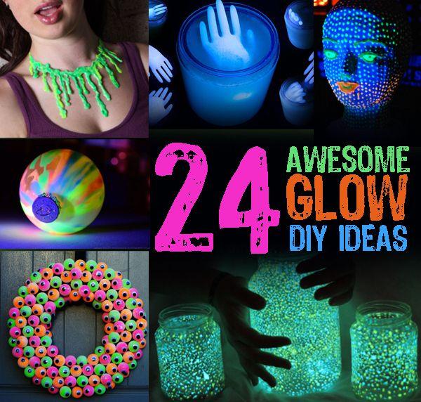 24 Awesome Glow Diy Ideas Diy Party Decorations Glow Party Glow Sticks