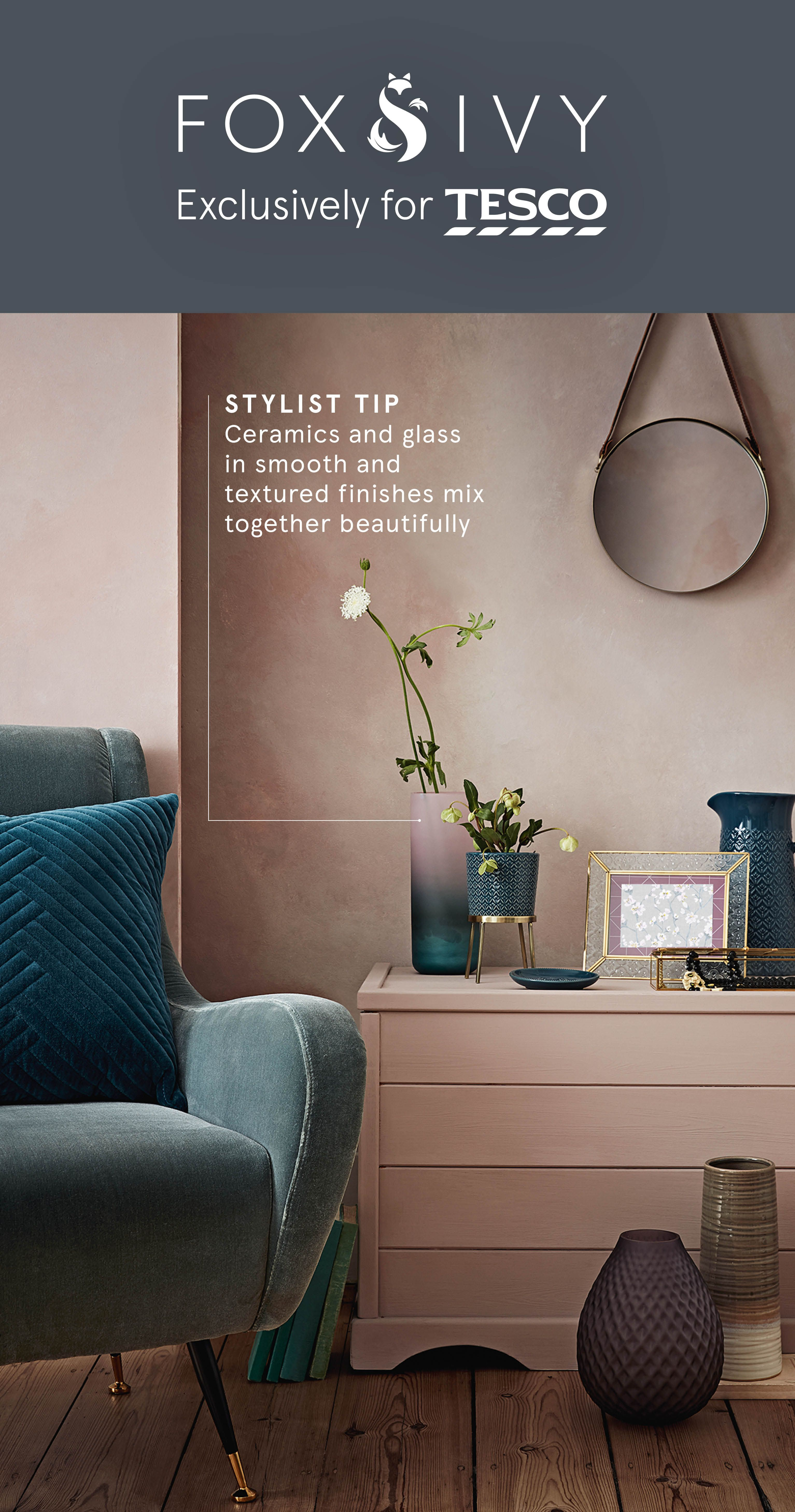 Add designer touches to side tables and shelves with the new collection for spring summer from fox ivy choose from textured and frosted ceramics as well